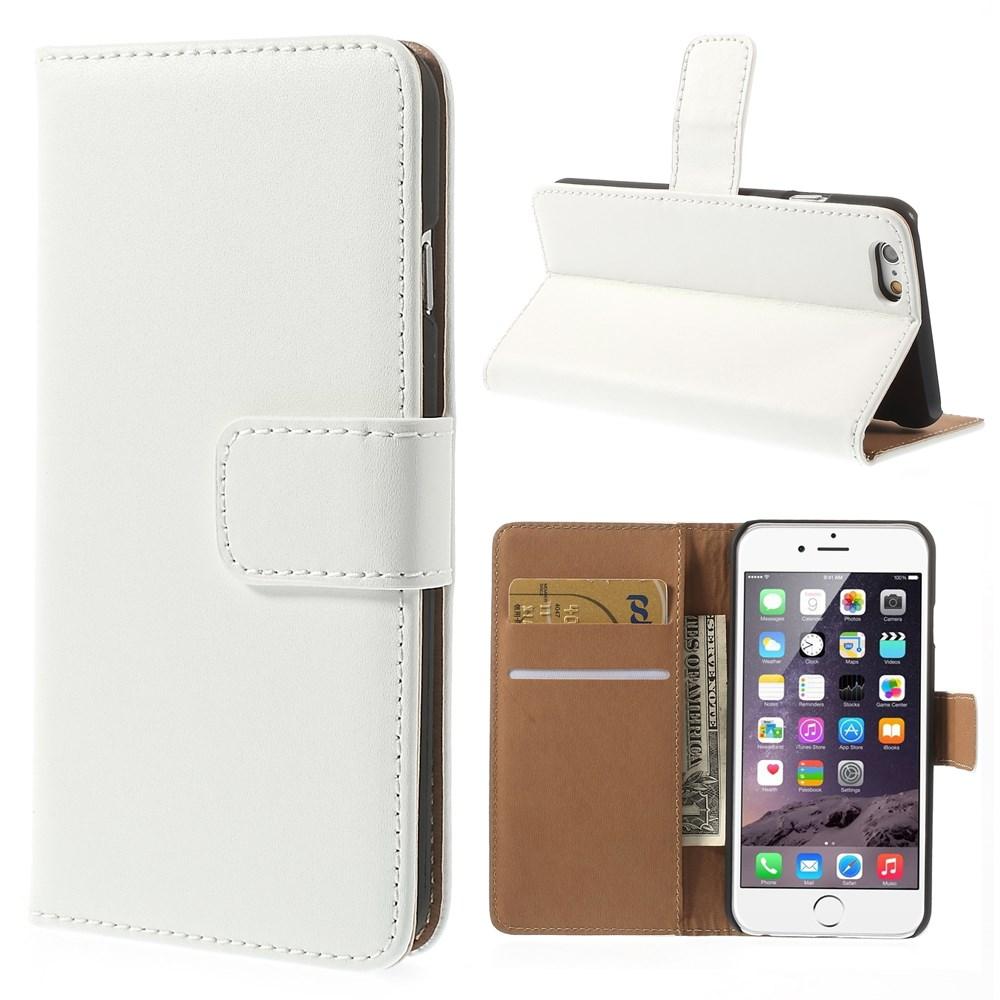 iPhone 6 Læderetui med kreditkortholder, Hvid