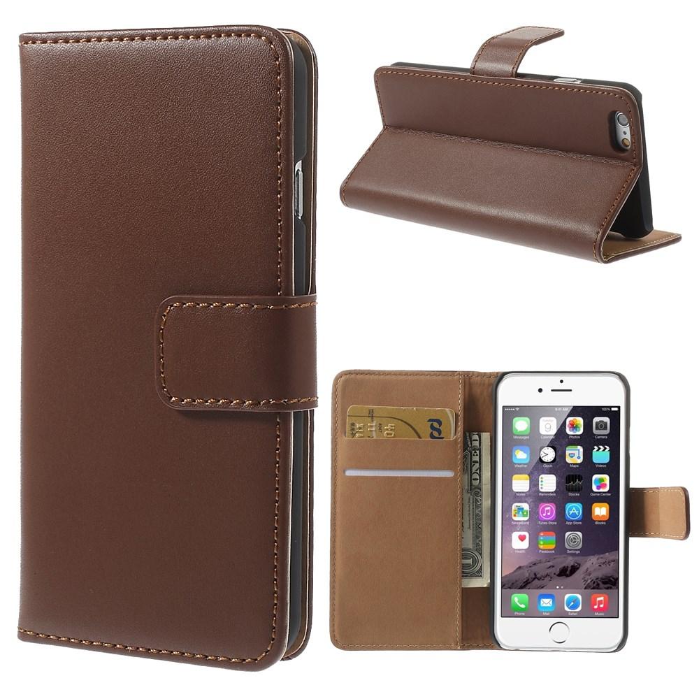 iPhone 6 Læderetui med kreditkortholder, Brun