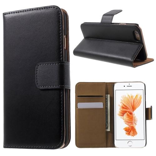 iPhone 6 Læderetui med kreditkortholder, sort