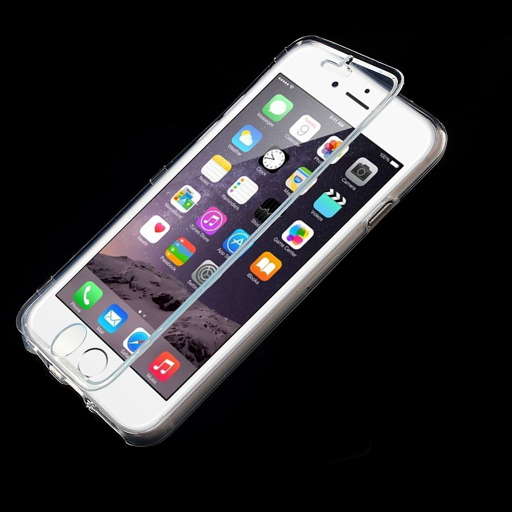 Dobbeltsidet gennemsigtigt iPhone 6 cover, gennemsigtig
