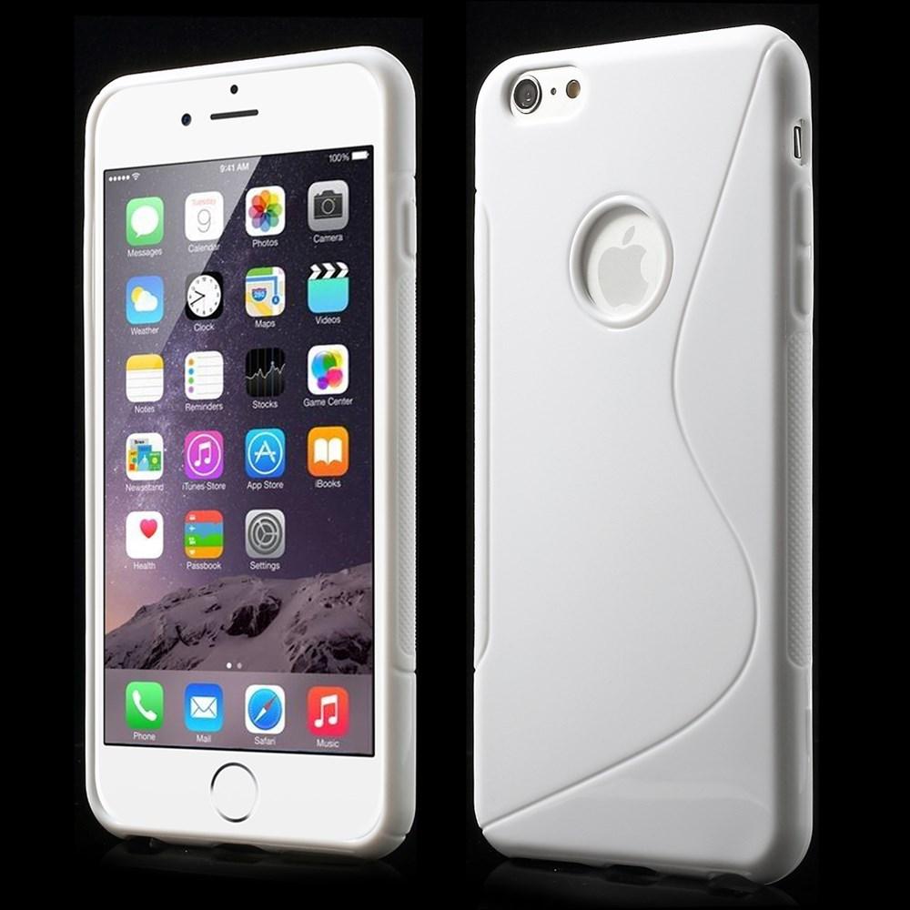iPhone 6 Plus cover i med S-mønster, hvid