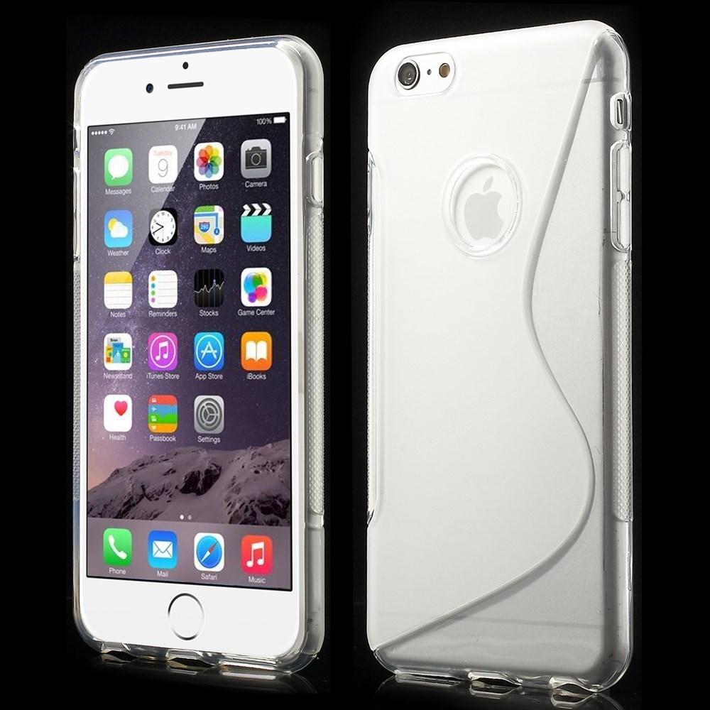 iPhone 6 Plus cover i med S-mønster, gennemsigtig