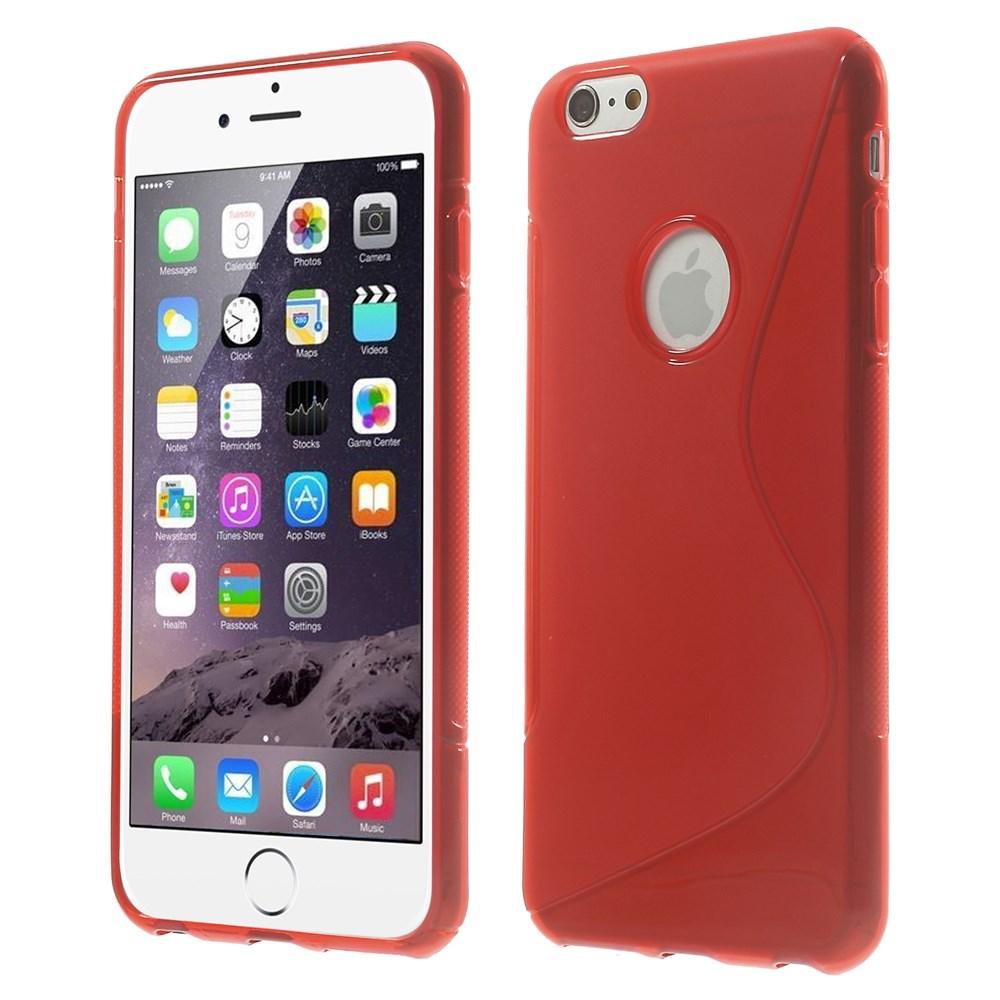 iPhone 6 Plus cover i med S-mønster, rød