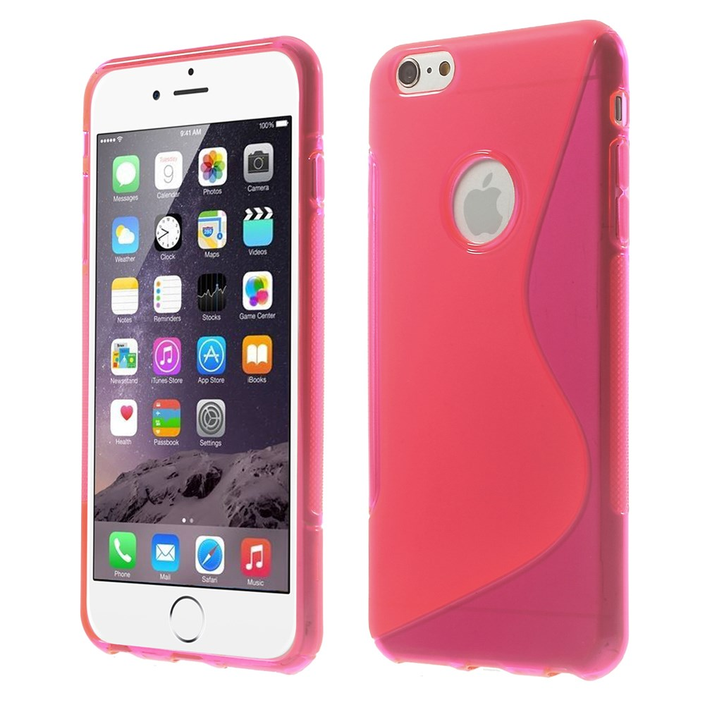 iPhone 6 Plus cover i med S-mønster, pink