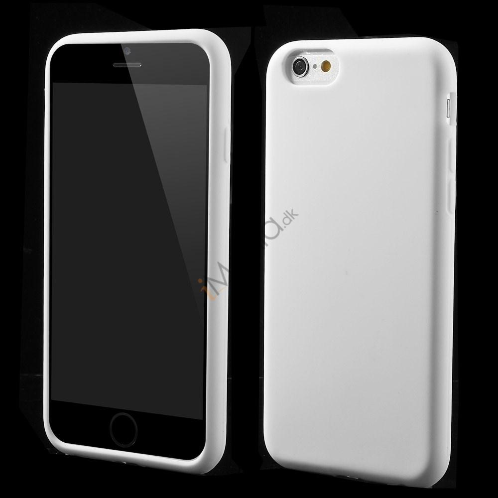 Blødt iPhone 6 silikonecover, hvid