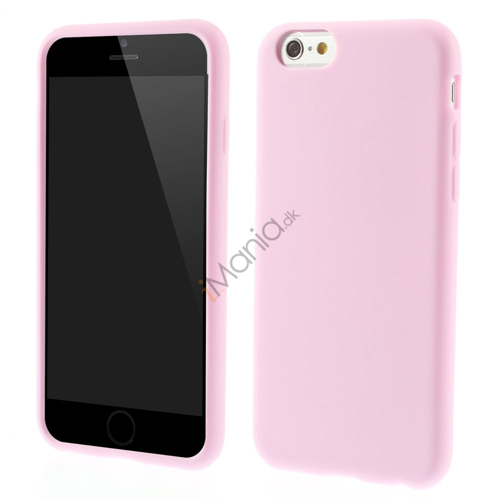 Blødt iPhone 6 silikonecover, pink / lyserød
