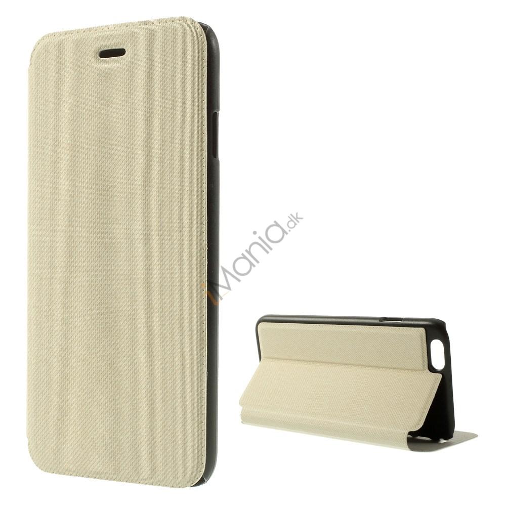 iPhone 6 etui i PU/lærred med mikrofiberforing, beige/hvid