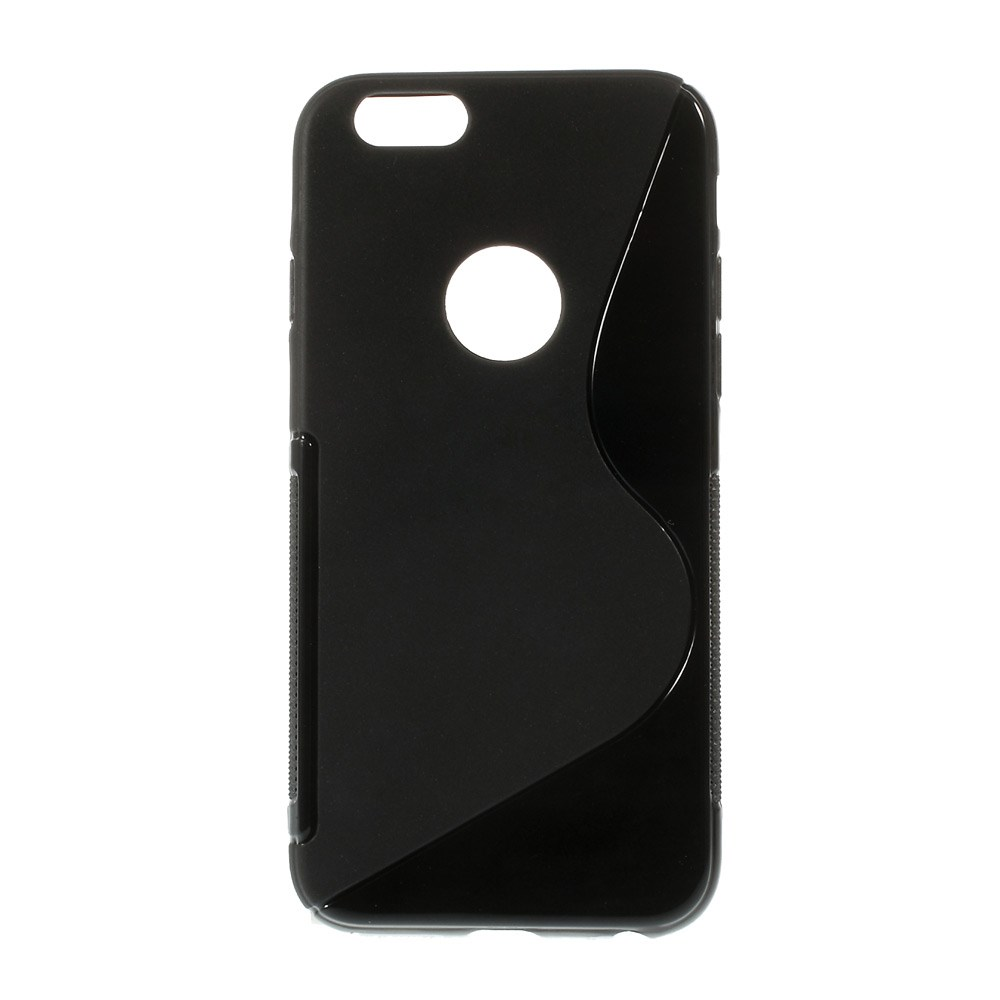 Image of   iPhone 6 cover med bølgemønster, sort