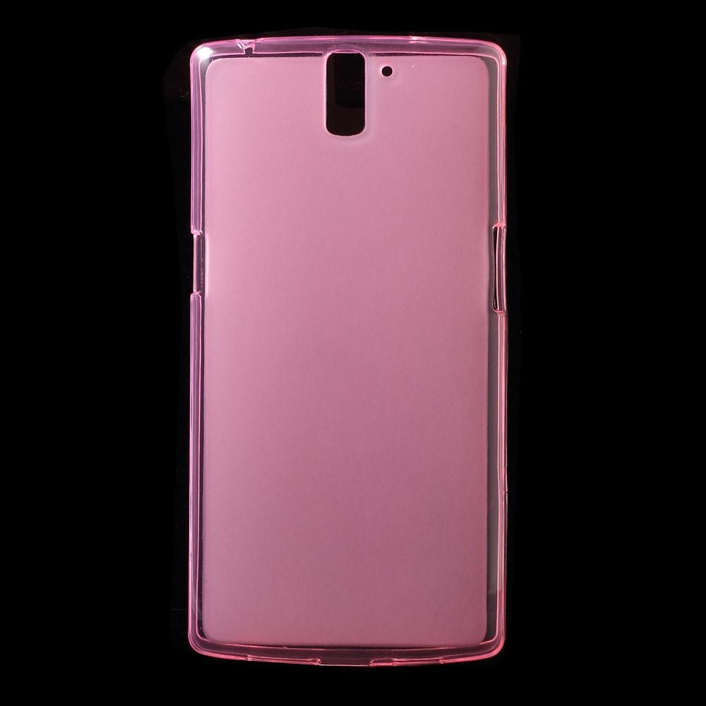 Pink Mat-gennemsigtigt TPU Cover til OnePlus One
