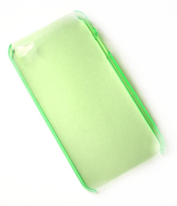 iPhone 4 cover gennemsigtig forårsgrøn
