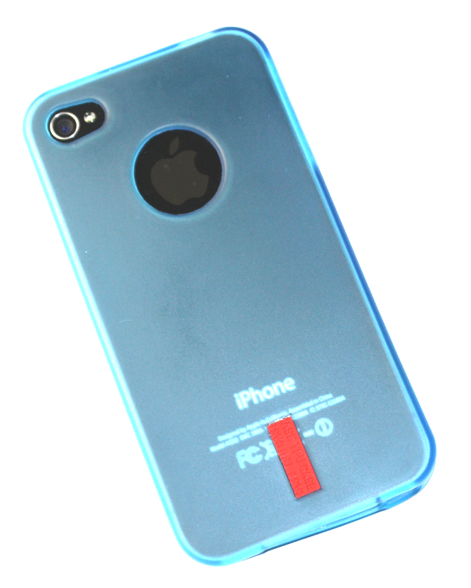 Image of   iPhone 4 / 4S cover blå gummi