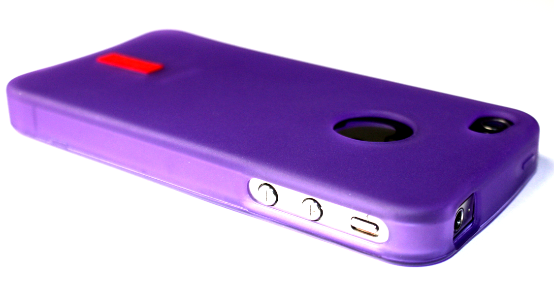 Image of   iPhone 4 / 4S cover i moderne lilla farve