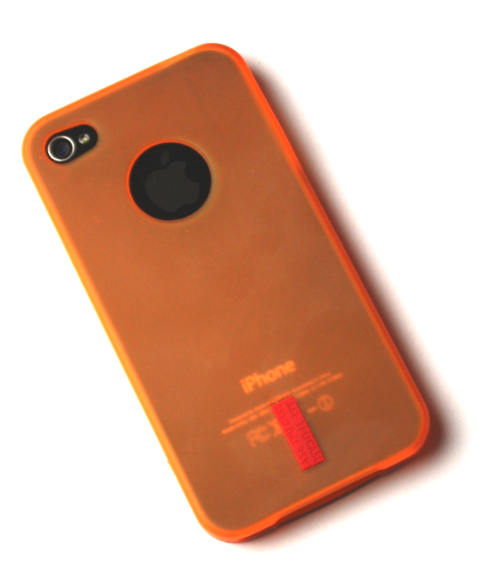Image of   iPhone 4 / 4S cover orange gummi