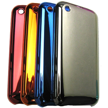 iPhone 3G 3GS cover med metallic farve