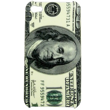 Image of   iPhone 4 / 4S cover med dollar-mønster