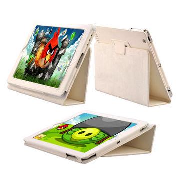 Image of   iPad 2 / Den Nye iPad 3 læder etui, hvid