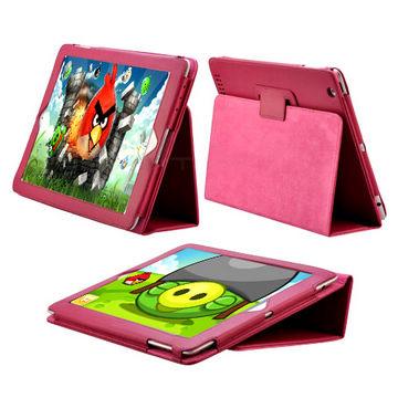 Image of   iPad 2 / Den Nye iPad 3 læder etui, pink