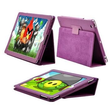 Image of   iPad 2 / Den Nye iPad 3 læder etui, lilla og øvrige farver