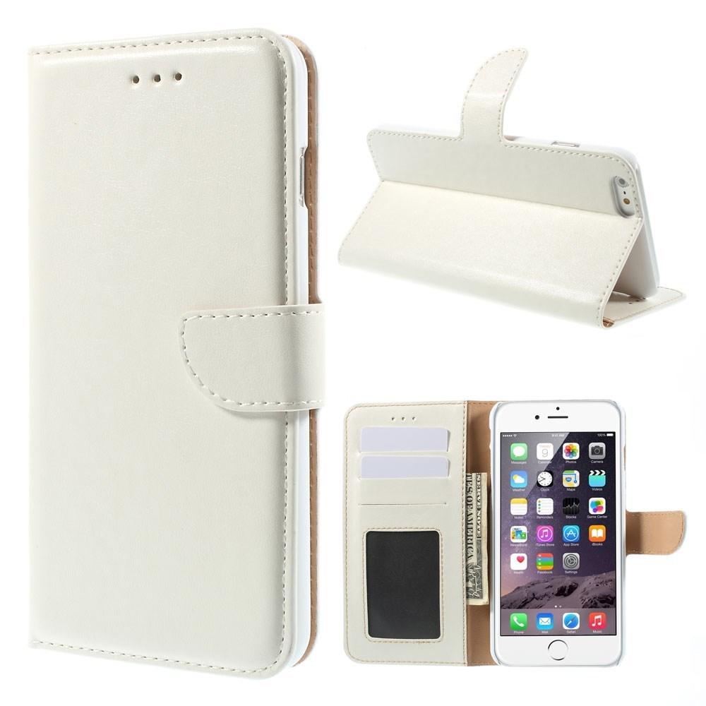 Vandret Flipcover til iPhone 6+/6S+ med kreditkortholder, hvid
