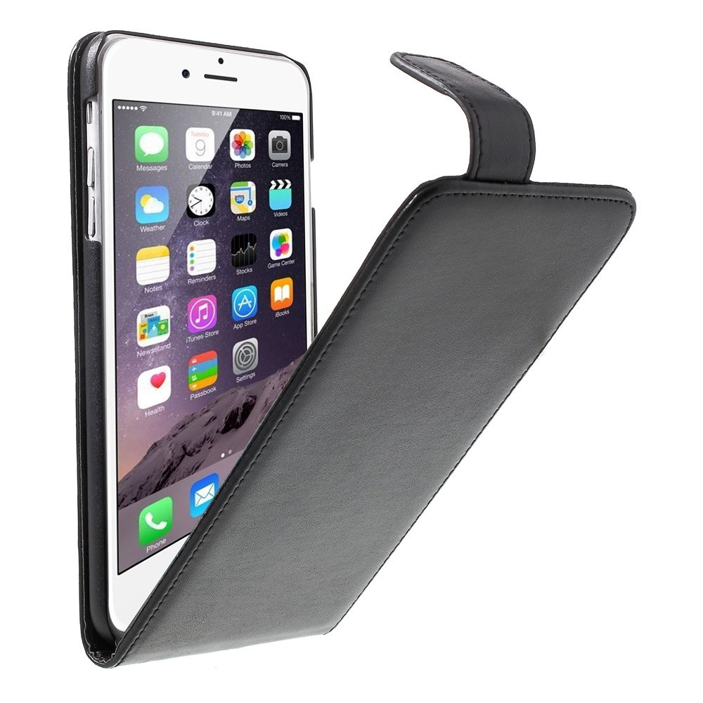 iPhone 6 Plus/6S Plus flipcover med magnetlås, sort