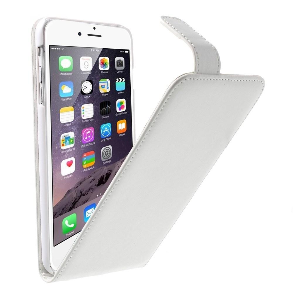 iPhone 6 Plus/6S Plus flipcover med magnetlås, hvid