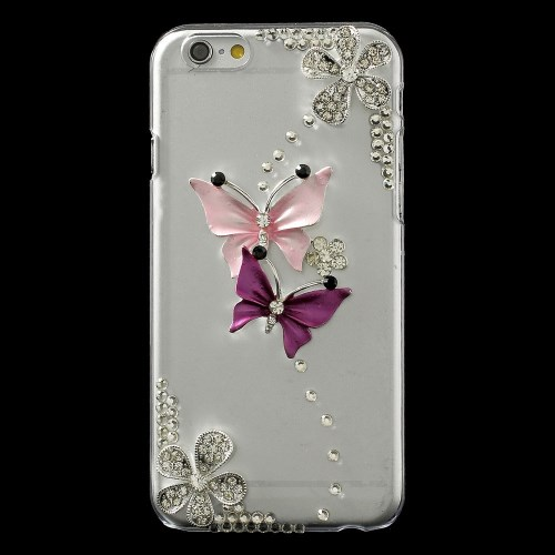 Image of   iPhone 6 bling-cover med sommerfugle