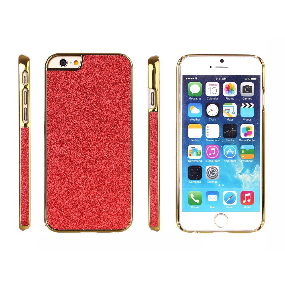 Image of   Bling Bling Glitter iPhone 6 Cover, rød