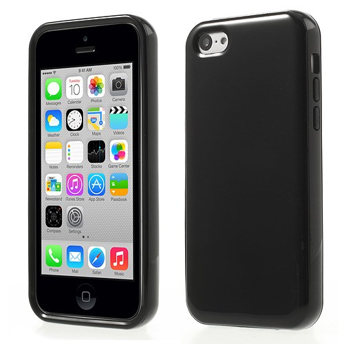 Image of   Glossy TPU and Plastic hybridcover til iPhone 5C, sort