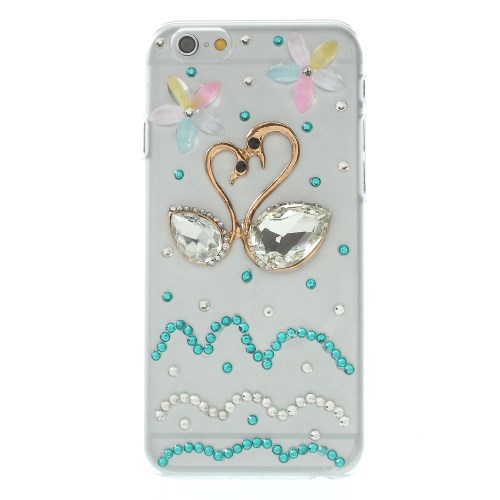 iPhone 6 bling-cover med svaner, transparant