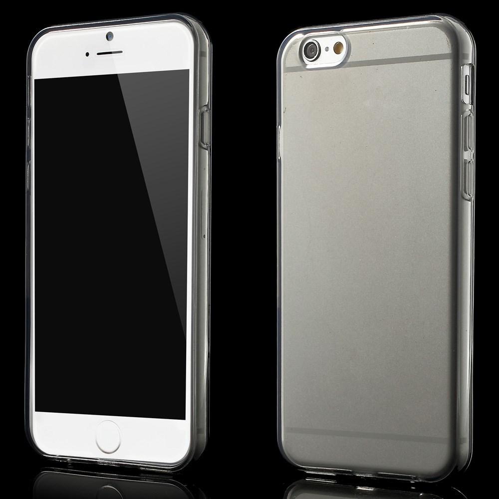 Gennemsigtigt iPhone 6 cover i TPU, grå