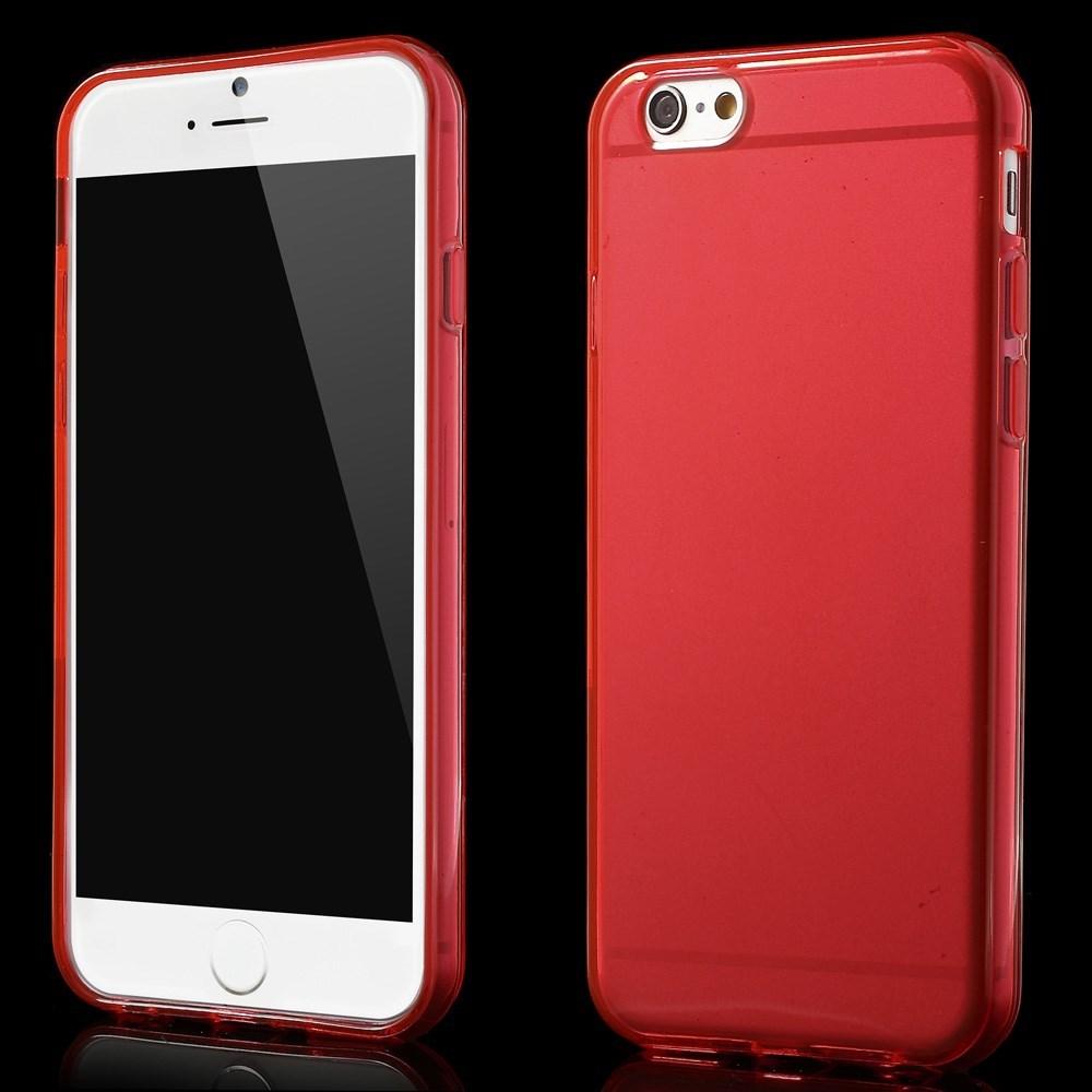 Gennemsigtigt iPhone 6 cover i TPU, rød