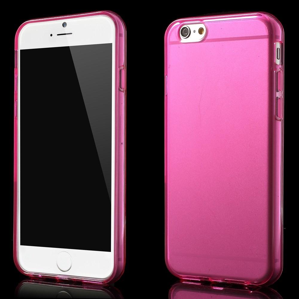 Gennemsigtigt iPhone 6 cover i TPU, pink