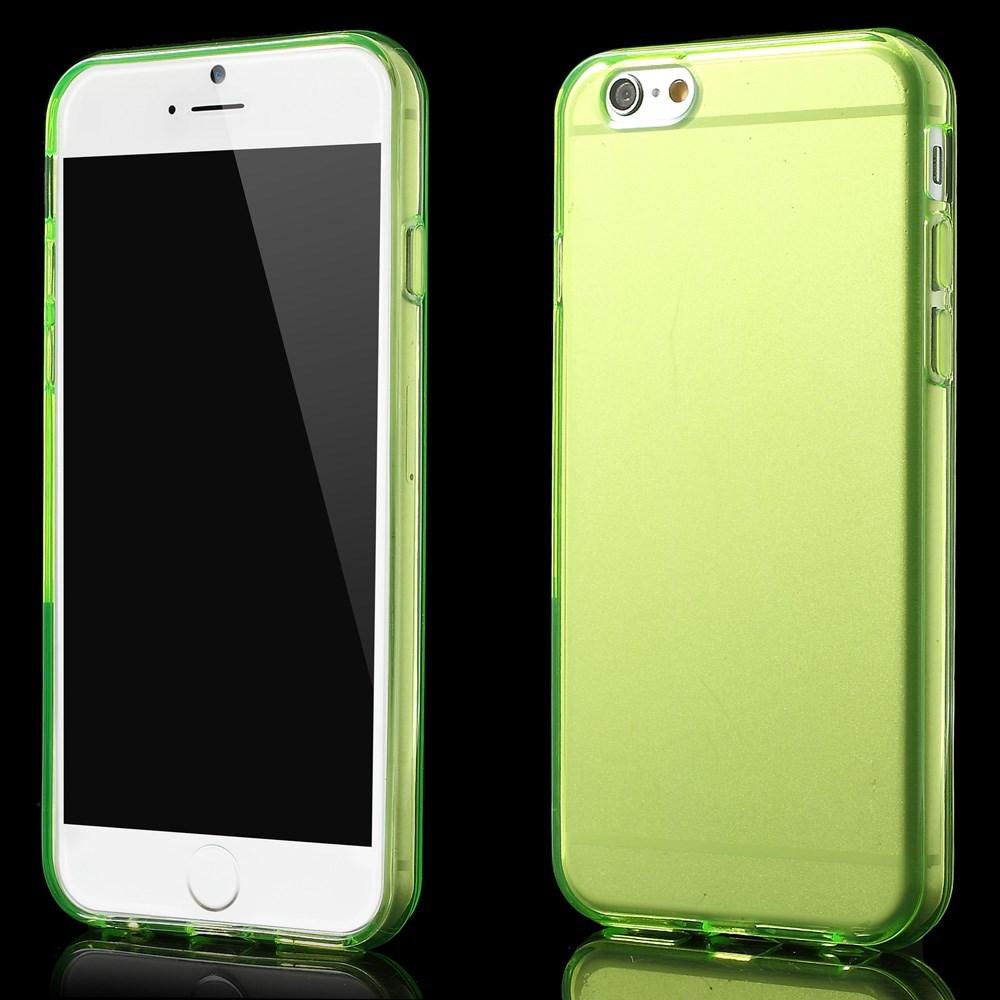 Gennemsigtigt iPhone 6 cover i TPU, grøn