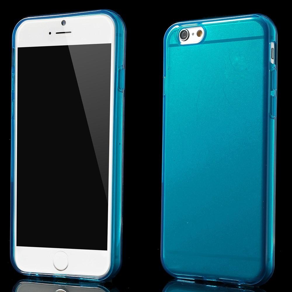 Gennemsigtigt iPhone 6 cover i TPU, blå