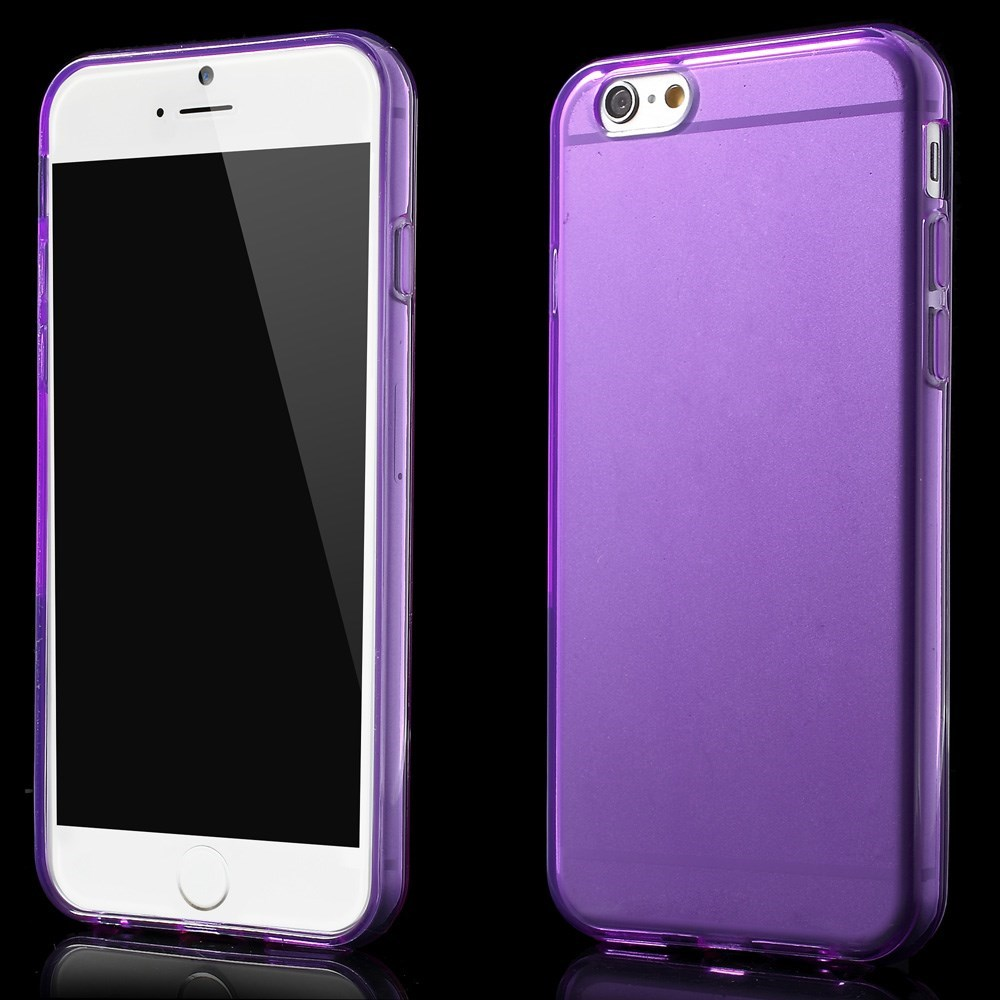 Image of   Gennemsigtigt iPhone 6 cover i TPU, lila