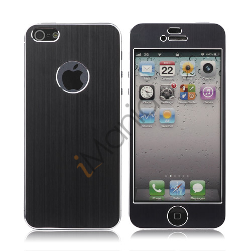 Luksus iPhone 5 Aluminium Skin, Sort