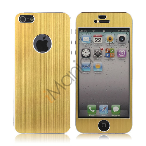 Luksus iPhone 5 Aluminium Skin, Guldfarvet
