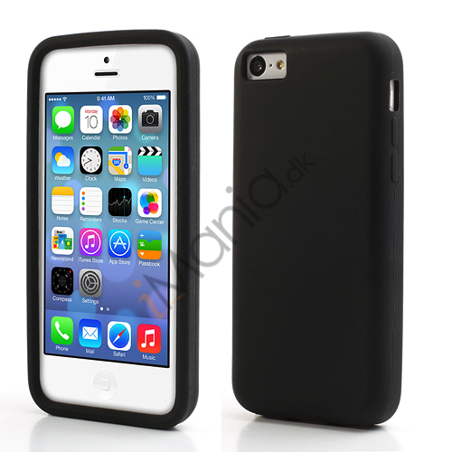 Image of   Blødt silikonecover til iPhone 5C, sort
