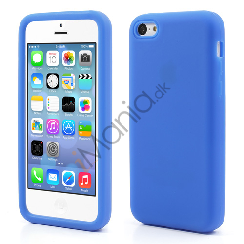 Image of   Blødt silikonecover til iPhone 5C, blå