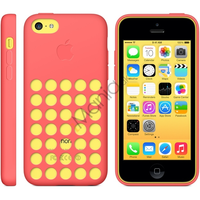 Image of   iPhone 5C silikonecover med hulmønster, Vandmelon