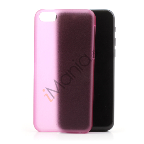 Mat 0,4mm cover til iPhone 5C, hot pink