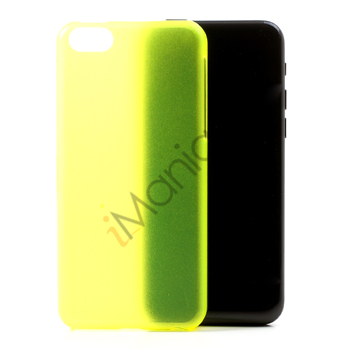 Image of   Mat 0,4mm cover til iPhone 5C, Neon Gul-Grøn