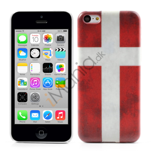 Image of   iPhone 5C cover med Dannebrog