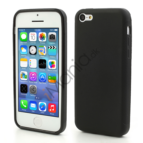 Image of   Mat iPhone 5C TPU cover, sort
