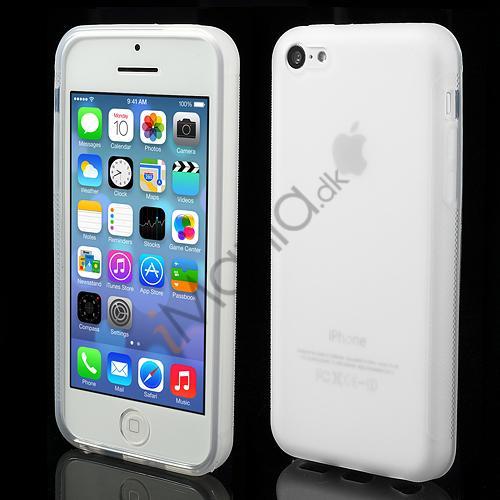 Image of   Mat Gennemsigtigt iPhone 5C TPU cover, hvid