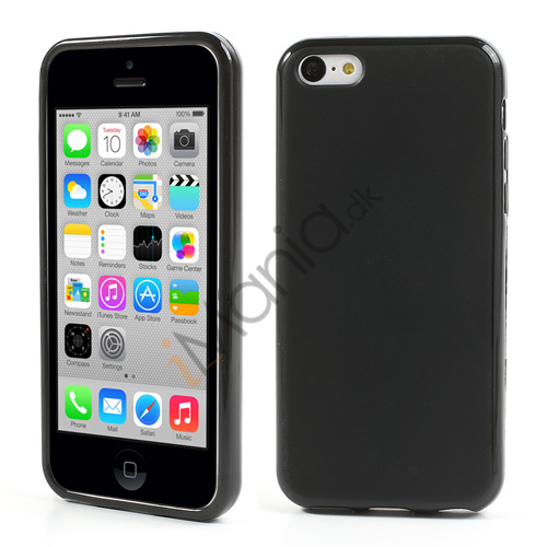Image of   Slidstærkt TPU cover til iPhone 5C, sort