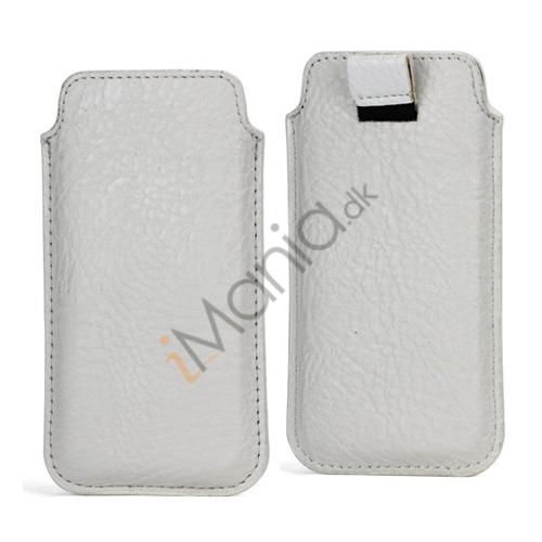Image of   Slim Sleeve Etui med trækstrop til iPhone 5, 5S og 5C, hvid