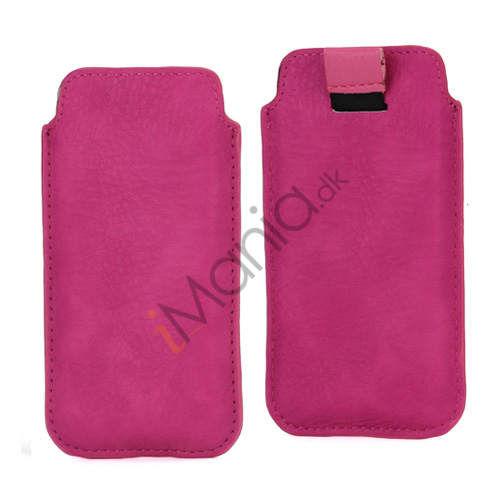 Image of   Slim Sleeve Etui med trækstrop til iPhone 5, 5S og 5C, pink