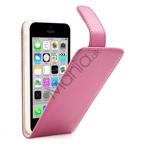 Image of   Lodret Magnetisk Flipcover til iPhone 5C, pink