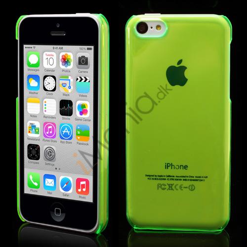 Image of   Gennemsigtigt iPhone 5C cover, Grøn